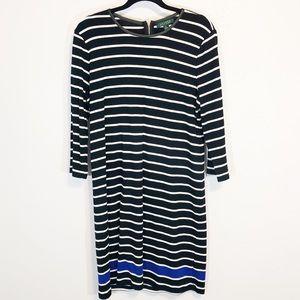 Lauren Ralph Lauren striped cotton dress XL
